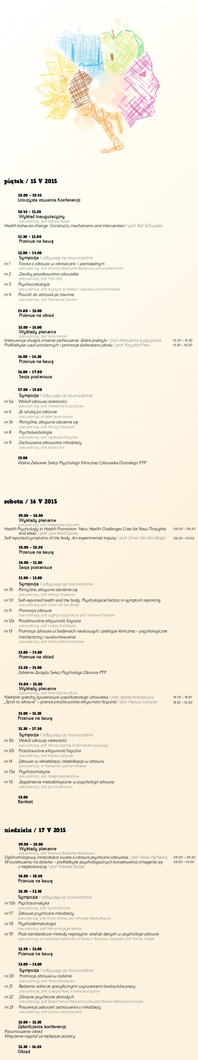 Z psychologią po zdrowie - program ramowy